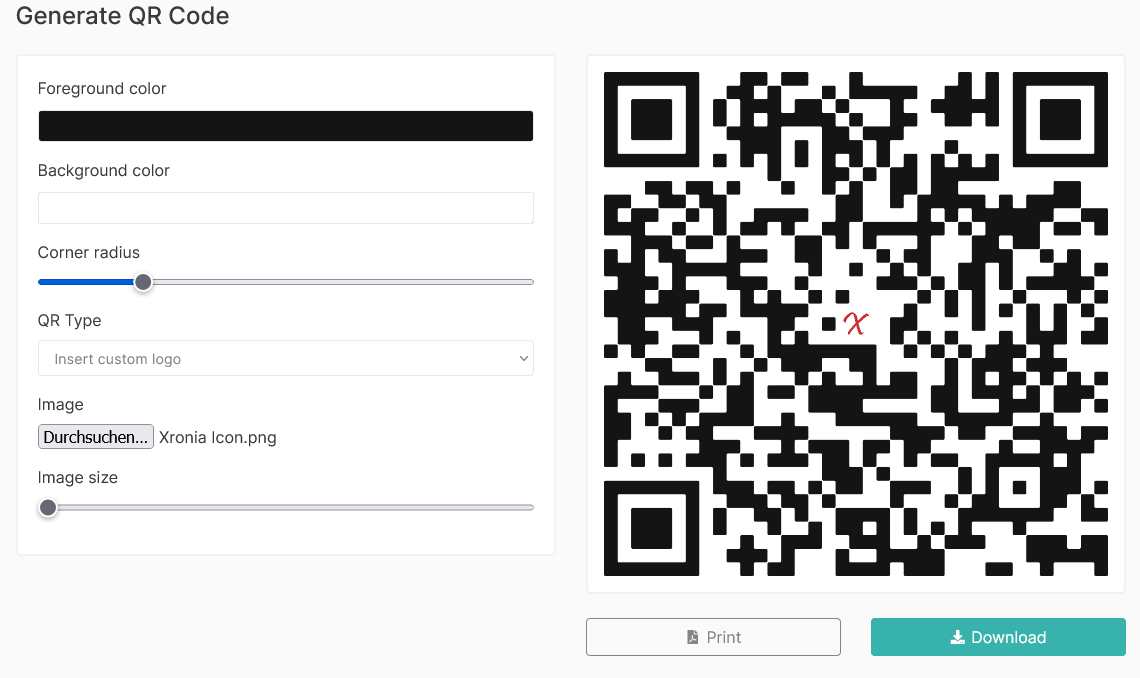 QR Link Code Xronia.com